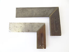 """Antique Old Brass Metal Wood 6"""" 7.5"""" Stanley Levels Squares Hand Tools"""