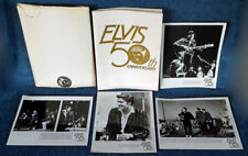 ELVIS PRESLEY- PRESS KIT - FOLDER, ENVELOPE - (4) B&W PUBLICITY PHOTOS,  53 PGS