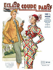 1950 Spring Eclair Coupe Paris Pattern Book Reprint - 100 Styles