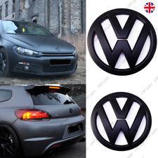 VW Scirocco Mk3 Front Rear Set Pair Black Matte Badge Logo Boot Rear Matt Emblem
