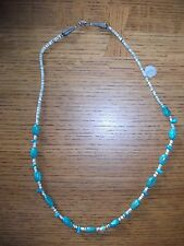 "24"" Turquoise & Shell Bead Necklace Tribal or Southwest Look NWT"