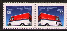 Canada 1990 Sc1272-73  Mi1179-80 1.80 MiEu  1 Pair  mnh  Mail Trucks