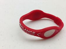 Power Balance - RED with WHITE Writing, Bracelet Band  - Wristband - NEW