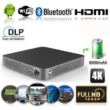 Smart Video Projector Full HD DLP Android WiFi Home Theater 1080p Movie HDMI USB