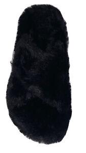 VIONIC RELAX COMFORTABLE ADJUSTABLE PLUSH SLIPPERS BLACK SIZE 7