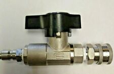 Dn10 Ball Valve Complete With Stainless Quick Connects