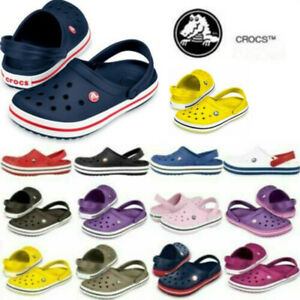 Crocs CROCBAND Unisex Mens Womens Comfy Croslite Slip On Casual Clogs UK STOCK