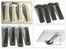 4 Stück Regalträger Linearkonsole Stahl Silbern, grau o schwarz  / für Wandregal