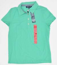 Jones New York Signature Short Sleeve Polo Shirt Womens M Aquamarine NEW 5956