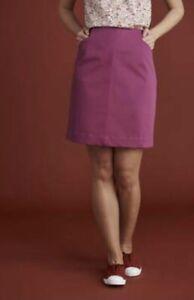 New Ex Mistral Twill We Won't We Stretch Baton Rouge Deep Pink Short Skirt Sz 8