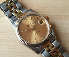 Men's Stainless Steel / Gold Quick Set Rolex Tudor Prince Date Automatic 74033 A