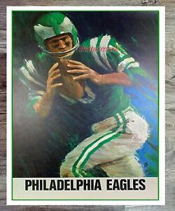 Vintage NFL Philadelphia Eagles Reprint Poster Picture Color 8 X 10 Photo