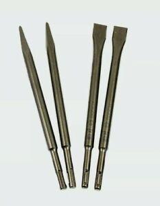 Bosch Professional SDS-plus Meißelset 4-tlg  je 2 x Spitz- & Flachmeißel 250mm,