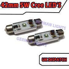 2 X CREE LED 42MM WHITE NUMBER PLATE INTERIOR LIGHT UPGRADE FESTOON BULB