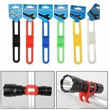 FIXATION SUPPORT SILICONE VELO BICYCLETTE ECLAIRAGE LAMPE TORCHE OUTILS