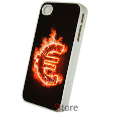 Cover Custodia Rigida Per iPhone 4/4S Euro Fuego Fuoco + Pellicola Display