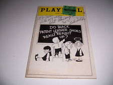 OP N PLAYBILL AUTOGRAPH TICKET DO BLACK PATENT LEATHER SHOES REALLY REFLECT UP?