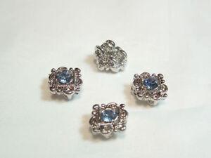 4 x Diamante 2-way Connectors BNDConn31 Pale Blue