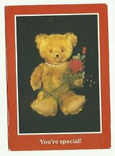 Teddy Bear you're special postcard