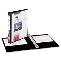 """Avery Mini Size Durable View Binder w/Round Rings 8 1/2 x 5 1/2 1/2"""" Cap Black"""