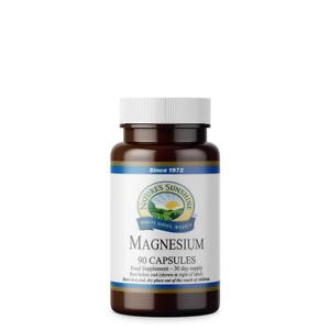 Nature's Sunshine Magnesium - 90 Capsules - Reduces Tiredness & Fatigue