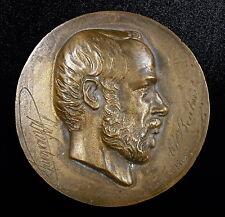 Médaillon Henri Vieuxtemps Belgique compositeur belge composer 10cm 1866 medal