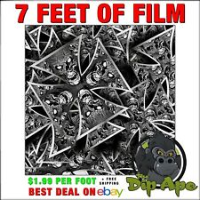 HYDROGRAPHIC FILM Carbon fiber skulls Iron Cross 7 feet of film hydro DIP APE