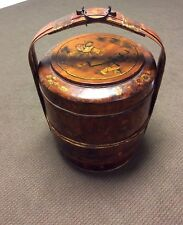 Antique Home Decor, Chinese Bamboo and wood Wedding Basket
