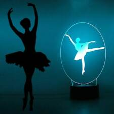 Ballerina Dancer Night Light 7 Color Change LED Desk Lamp Touch Room Decor Gift