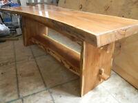 Live Edge Custom Handmade Wood slab Coffee Table