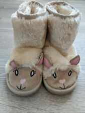 Toddler Girls Faux Fur Llama Boots Size 9