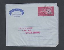 ADEN UK 1953/62 TWO 6D QEII AIR LETTERS PAQUEBOT SHIP CANCELS TO UK & SINGAPORE