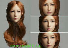 """1/6 Female Head Sculpt B MOVABLE EYES For 12"""" PHICEN Hot Toys Figure ❶USA❶"""