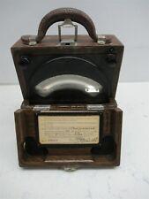 Vintage Weston Electrical Instrument Model 45 Amperes DC Meter Amp Oak Case