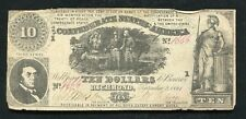 T-30 1861 $10 Ten Dollars Csa Confederate States Of America Currency Note