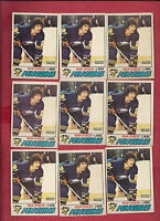 9 X 1977-78 OPC # 9 PENGUINS BRIAN SPENCER CARD