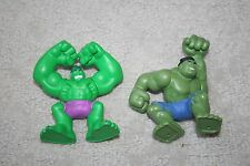 """Marvel Hasbro 2 The incredible Hulk 3"""" Action Figures Moveable arms"""