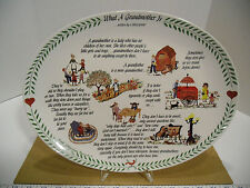 1983 1st Edition of 5K Original Red Plate What is a Grandmother Oval Plate - NEW
