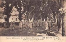 CPA 78 LES LOGES MAISON D'EDUCATION DE LA LEGION D'HONNEUR CULTURE PHYSIQUE EN P