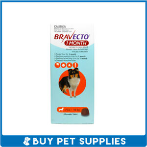 Bravecto (1Month) Orange For Small Dogs 4.5-10kg 1 Pack Chew