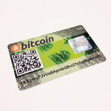 Card Wallet Bitcoin PVC plástico tarjeta de regalo safe offline Cold Storage BTC