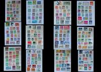 Stamp Collection From Germany Bayern Saar, 20 Extra US Stamps Free (Blind)