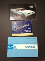 Vintage 1959-1971 Chevy Pontiac Convertible GM Manual Chevy Instruction Owners