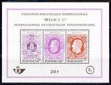 Belgium**Belgica Stamp Expo Belgica 72-SHEET3vals-1970-King/Koning/Roi Leopold I