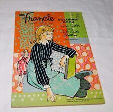 Vintage 1967 Francie Coloring Book Paper Doll & Clothes Barbie Whitman 1094 RARE