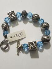 Brighton Bali Treasures WALTZ Beaded Bracelet in Sterling Silver.925 Retail $225