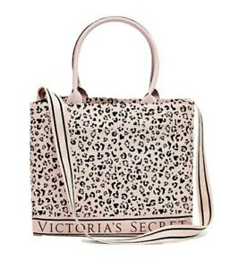 Victoria's Secret Pink Leopard Logo Tote Bag  Shoulder Bag 15 X 12.5 New!