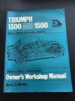Triumph 1300 and 1500 Owner's Workshop Manual 1965 Onwards by J L S Maclay