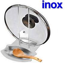 Support Anti Goutte Inox Repose Tous Types Couvercles Ustensiles Cuisine en Kit