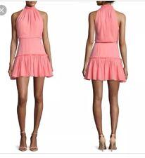 Elizabeth and James NWT Carlita silk dress Size 6 Coral Ruffle Halter